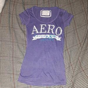 Aeropostale womens XS purple shortsleeve tee